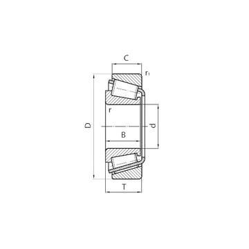 T-E-M231649D/M231610/M231610D Ρουλεμάν με κυλίνδρους